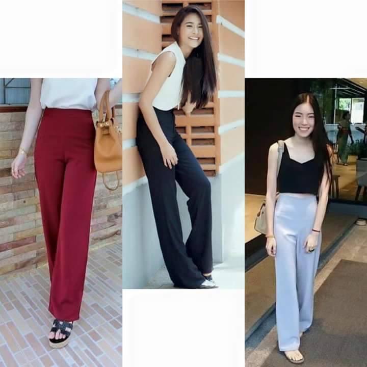 กางเกงผ้าฮานาโกะ กางเกงราคาถูก ใส่ง่าย คืนทรงสวย ไม่ต้องรีด ซื้อไว้ได้ใช้แน่นอน