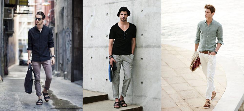 เสื้อยืดสีพื้นกับกางเกงชิโน