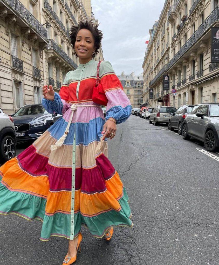 Rainbow Dress เดรสยาวสายรุ้ง